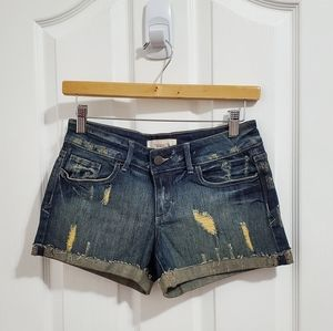 Forever 21 Distressed Denim Jean Shorts